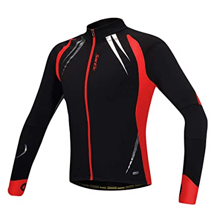 6f9b6374a Image Unavailable. Image not available for. Color  Santic Mens Cycling  Jackets Winter Inner Fleece Windproof ...