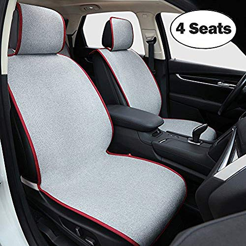 Big Ant Car Seat Cover, Universal 4 Seats Breathable Nonslip Car Seat Protector, 2PC Front Car Seat Cover + Rear Car Seat Cover, Fit for Most Car, Truck, SUV, or ()