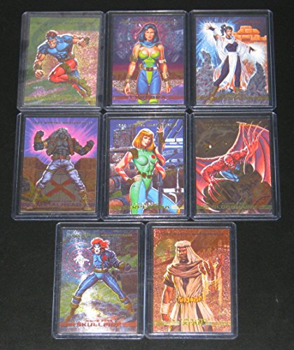 6172a177283 1993 Marvel Masterpieces Series II SPECTRA-ETCH Insert Set of 8 Cards NM M