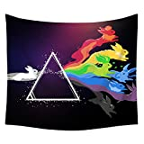 YQ Park Decorative Tapestry Simple Color Imagine Bunny Print Bedroom Life Kid Girl Boy Room Dormitory Accessories Tapestry