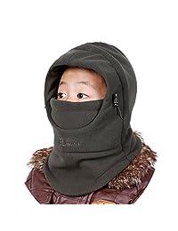 Rgslon Boys Girls Balaclava Children Cap Ski Face Mask Winter Warm Hat