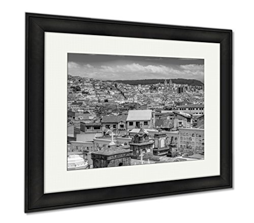 Ashley Framed Prints Spectacular Overview Of Cemetary San Diego Showing Typical Catholic Graves With, Wall Art Home Decoration, Black/White, 26x30 (frame size), Black Frame, AG6523000 by Ashley Framed Prints