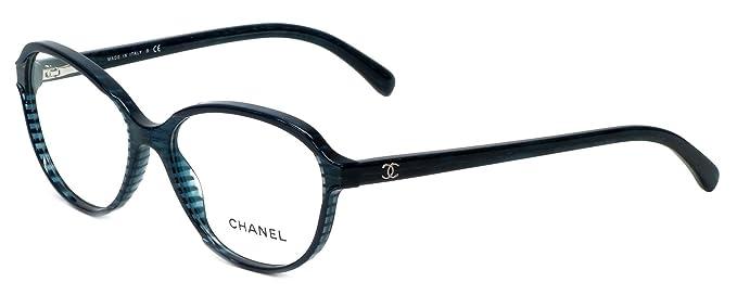 Chanel Designer Womens Frames CH 3316 C1515 54mm Blue: Amazon.ca ...
