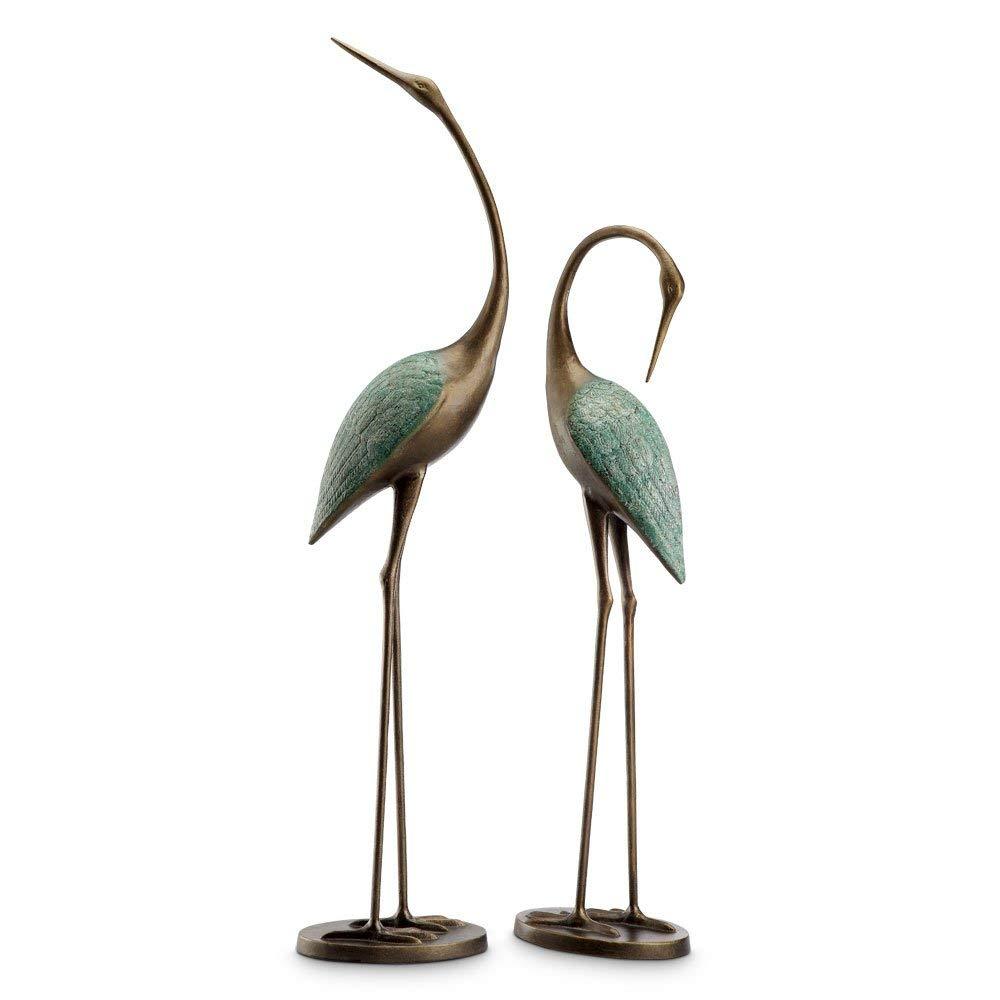 Viridian Bay Patina Crane Pair