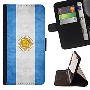 KingStore / Leather Etui en cuir / Apple Iphone 5C / Nacional bandera de la nación País Argentina