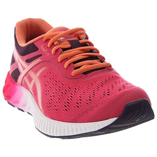 ASICS Women's Fuzex Lyte Running Shoe, Mid Grey/White/Pink Glow, 5.5 M US