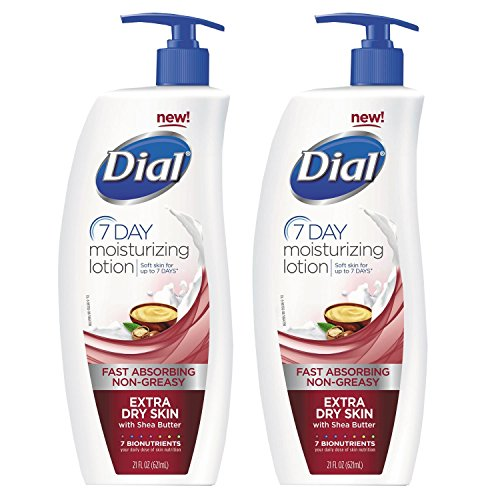Dial 7-Day Moisturizing Lotion with Shea Butter For Extra Dry Skin, 21 Ounce Pump Bottle (2 - Skin Body Dry Moisturizing Lotion