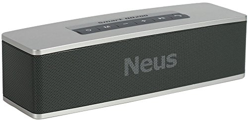 Neus Bluetooth Speaker Wireless Portable with HIFI sounds,High Power,Deep Dass Effect, True 3d Stereo *Smart Design, 2 Speakers for Office & Home Playing (Silver) by Neus