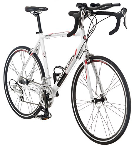 Price comparison product image Schwinn Men's Axios TT 700c Drop Bar Triathlon Road Bicycle, White, 18-Inch Frame