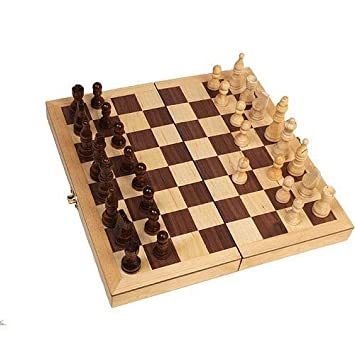 Amazoncom Classic Wooden Chess Set 15 Folding Board Inlaid with