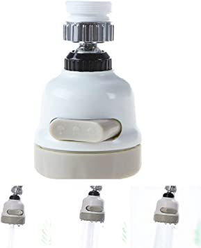 360° Rotating Faucet Movable Kitchen Tap Head Water Saving Nozzle Sprayer Silver