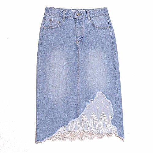 Maille pour Jupes Jupes Confortables Femmes en Blue YUCH zHw6qf74nz