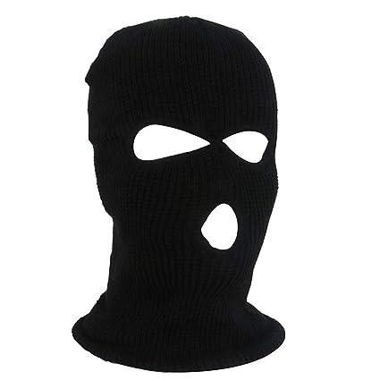 2e40e6f2b12 Amazon.com  Pgojuni Full Face Mask Ski Mask Pgojuni Winter Cap Balaclava  Hood Army Tactical Mask 3 Hole (A)  Home Improvement