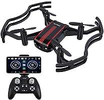 AKASO A21 Drone con cámara 720P HD Avión con WiFi FPV 360° Giro Cámara Modo sin Cabeza VR Funciones de Despegue y...