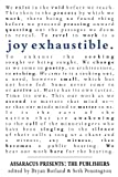 Joy Exhaustible, , 1937420701