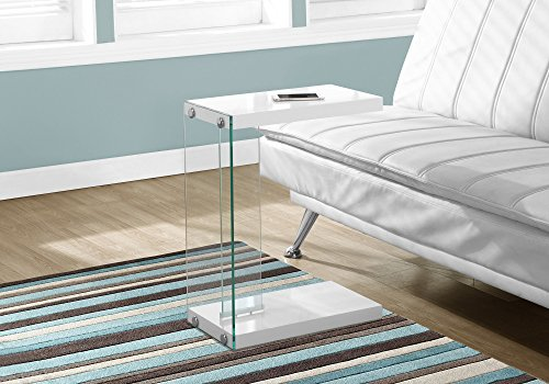 End Table, Glossy White