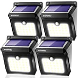 Solar Motion Sensor Lights Outdoor, ZOOKKI 28 LEDs Waterproof Solar Powered Wall Lights, Wireless Security Night Lights for Outdoor Garden Patio Yard Deck Garage Driveway Porch Fence 4 Pack Review