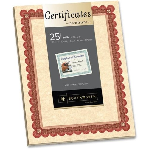 SOUCT5R - Southworth CT5R Parchment Certificates