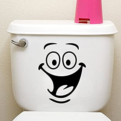 Funny Animation Big Eyes Toilet Wall Decal Home Sticker PVC Murals Vinyl Paper House Decoration Wallpaper Living Room Bedroom Kitchen Art Picture DIY for Children Teen Senior Adult Nursery Baby
