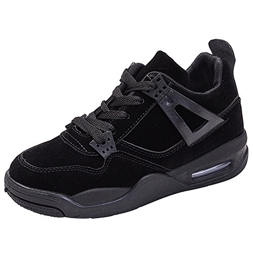 Suédé Fitness Gym Sport Outdoor Femme Noir de Basse Casuel wealsex Running Basket Confort Coussin Multisports D'Air Chaussures qxtYXwHEH