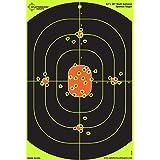 "25 Pack - 12""x18"" Bullseye Splatterburst Target - Instantly See Your Shots Burst Bright Florescent Yellow Upon Impact!"