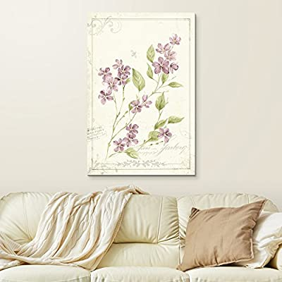 Beautiful Object of Art, Made With Love, Vintage Style Small Purple Flowers