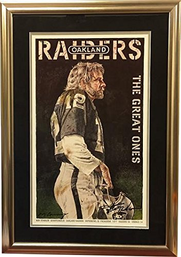 8f18e829c00 Ken Stabler signed Oakland Raiders SB XI quot The Great Ones quot  15.5 x  25 Lithograph