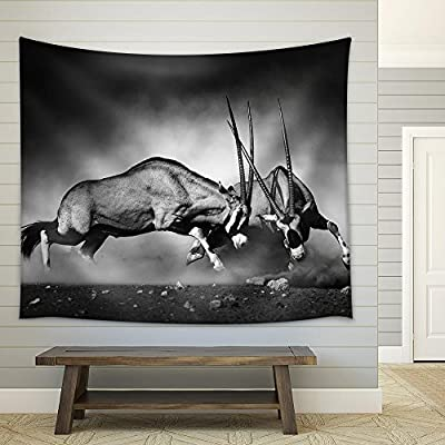 Fascinating Composition, Made With Love, Gemsbok Dual (Artistic Processing) Fabric Wall