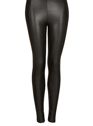 3897c58ab7c4e Grey Leather Look Leggings - Noisey Clothing