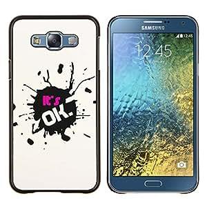 TECHCASE---Cubierta de la caja de protección para la piel dura ** Samsung Galaxy E7 E700 ** --Esta bien