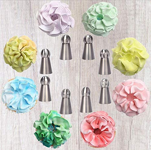 Yameisi 22pcs Cake DIY Decorating Set Russian Piping Tips Round Torch Cupcake Nozzles Safety Baking Ware Food Grade Material Tip by Yameisi