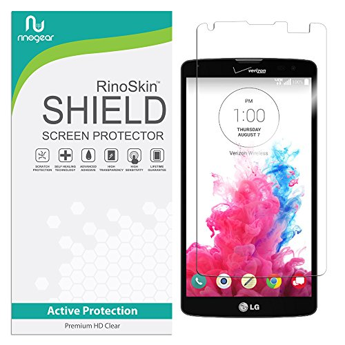 LG G Vista Screen Protector, RinoGear [Active Protection] Flexible HD Invisible Clear Shield Anti-Bubble