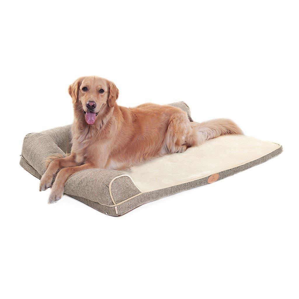 XAJGW Camas ortopédicas impermeables ortopédicas para perros con memoria de primera calidad con refuerzos 3 tamaños 2 colores: alivia la artritis de las ...