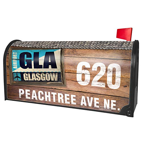 NEONBLOND Custom Mailbox Cover Airportcode GLA Glasgow