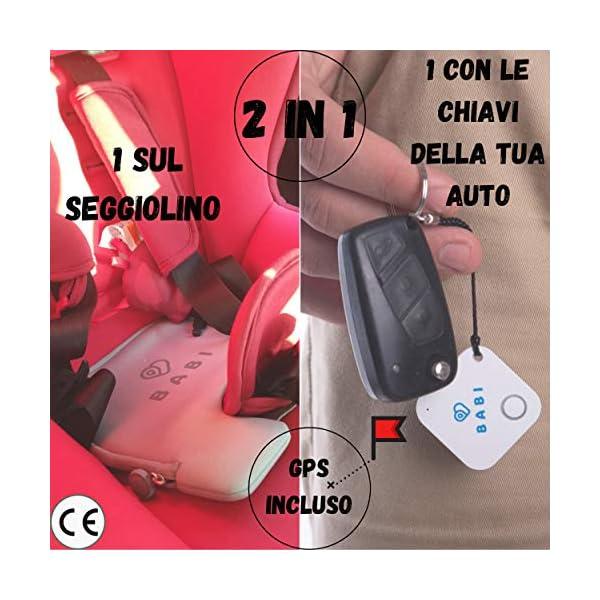Babi Alert il portachiavi intelligente per dispositivo anti abbandono seggiolino auto Babi by CappyToppy Monitoraggio… 4