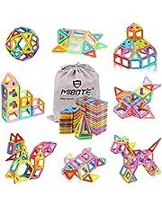 MIBOTE (110 PCS) Magnetic Building Blocks Educational Stacking Blocks Toddler Toys for Preschool Boys Girls Educational and Creative Imagination Development