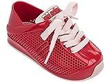 Mini Melissa Kids' Mini Love System Sneaker,Red,8 Regular US Toddler
