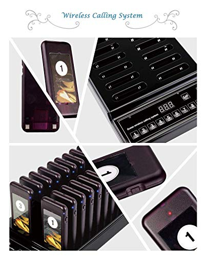 Baile Wireless Calling System Restaurant Pager/Guest Waiting Pager with 20pcs Coaster Pagers and 1pc Call Button Keypad Transmitter by Baile (Image #3)