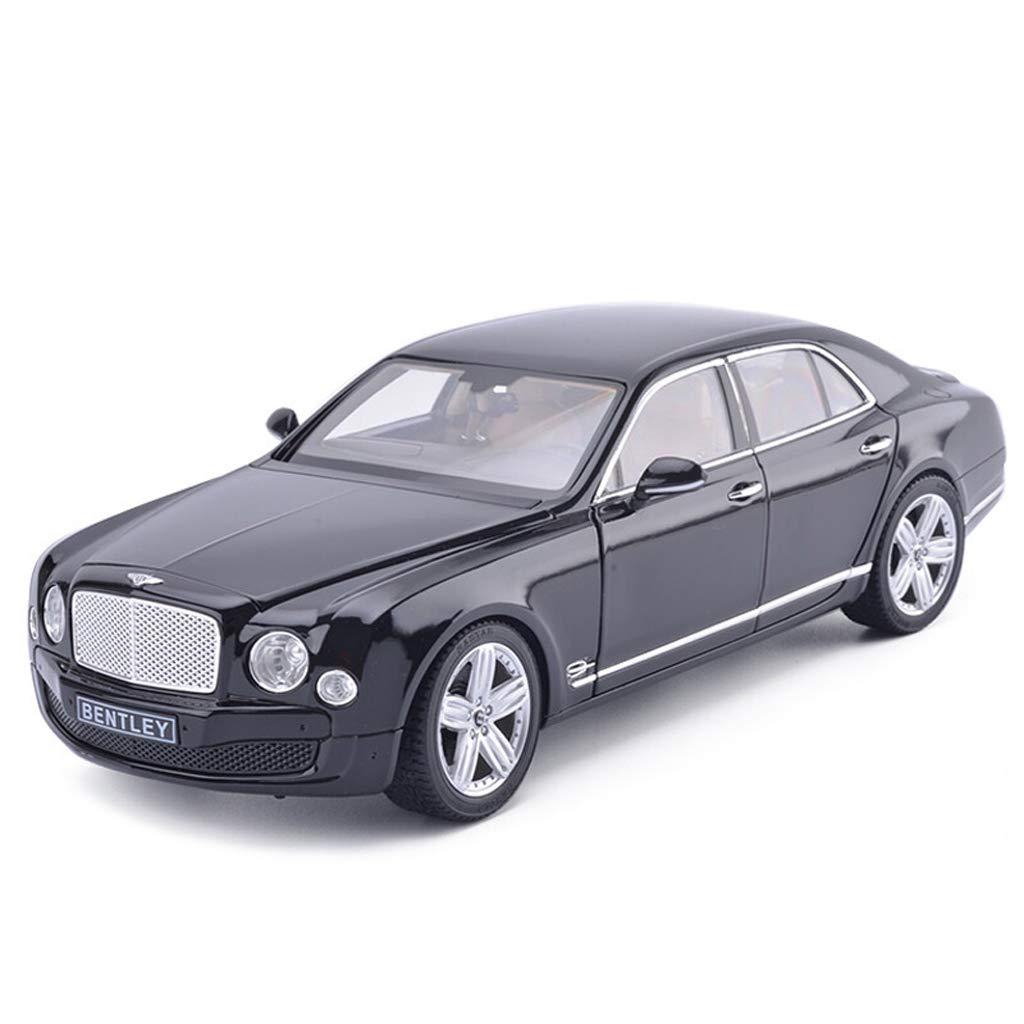 SXET-Model car Model Car Die-Casting Model Alloy Model 1:18 Bentley Mulsanne Sedan Model Collection Decoration Model (Color : Black)