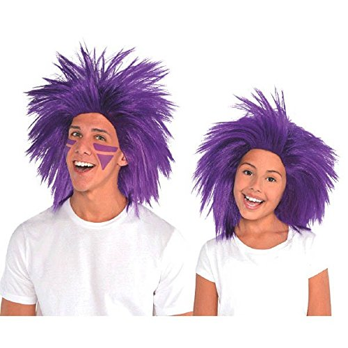 Amscan Crazy Party Wig Costume, Purple -