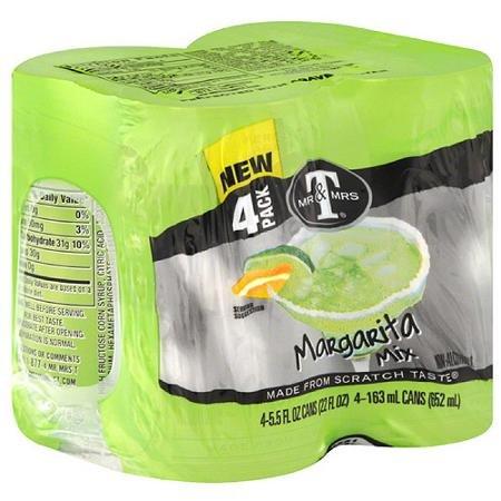 Mr & Mrs T Margarita Mix, 5.5 fl oz, 4 pack, (Pack of 6) by Mr. & Mrs. T