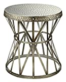 Treasure Trove Accents Round Table, Hammered Nickel Finish Review