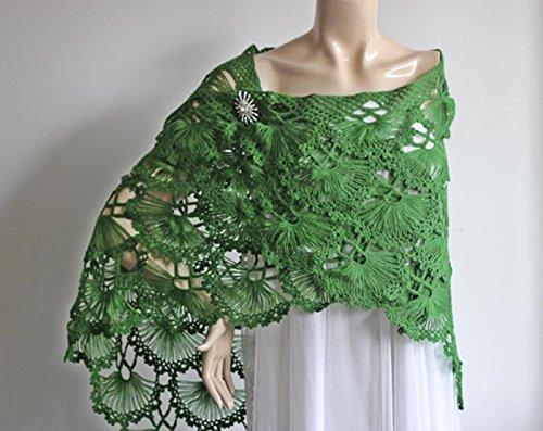 Amazon Green Bridal Shawlwinter Wedding Crochet Shawlbridal