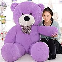 MSFI Kid's Teddy Bear Sitting Stuffed Soft Plush Toy, 4ft (Purple)