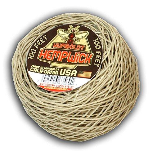 Humboldt Hemp Wick 100 Ft Bee Hemp Line Lighter Hempwick