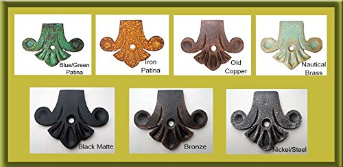 """Wall Mount Iron Angle Bracket-Heavy Duty 7"""" Decorative Beautiful Hand Finished Support for Granite, Mantel, Shelving & More-Black Matte by Shoreline Ornamental Iron (Image #6)"""