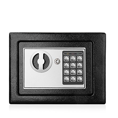 Flexzion Digital Safe Box 9'' Electronic Keypad Lock Security Gun Cash Jewelry Passport Valuable Wall Cabinet For Home Office Hotel with 2 Keys Fit Anywhere by Flexzion (Image #1)