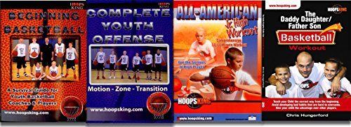 HoopsKing Youth Instructional Basketball Drills DVD Training 4 Pack - Run Great Youth Basketball Practice - Learn The Best Drills to Teach Skills (Best Basketball Instructional Videos)