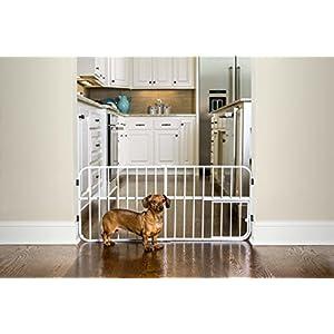 Carlson Lil Tuffy Metal Expandable Gate Beige, 38 x 1 x 18