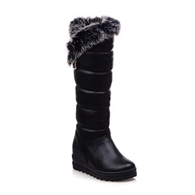 AdeeSu Womens Casual Slip-Resistant Platform Wedges Urethane Boots SXC02253